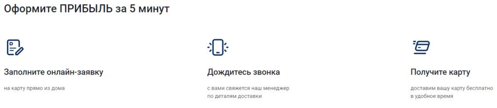 Инструкция по быстрому оформлению онлайн заявки дебетовой карты Прибыль от УралСиб банка