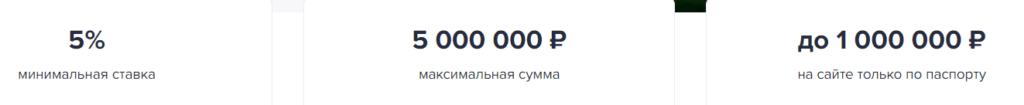 Основные параметры потребительских кредитов от ГазпромБанка